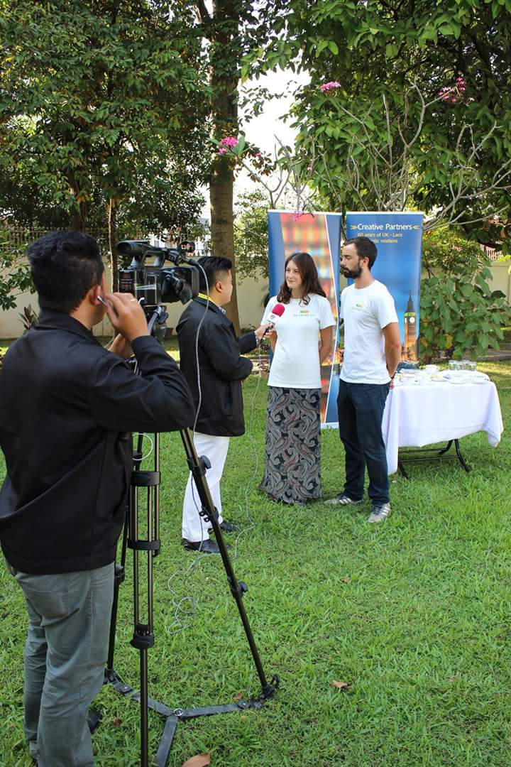Laos TV filming