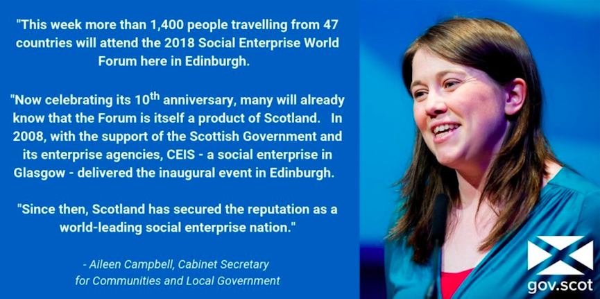 Aileen Campbell quote from Scottish Parliament debate on SEWF