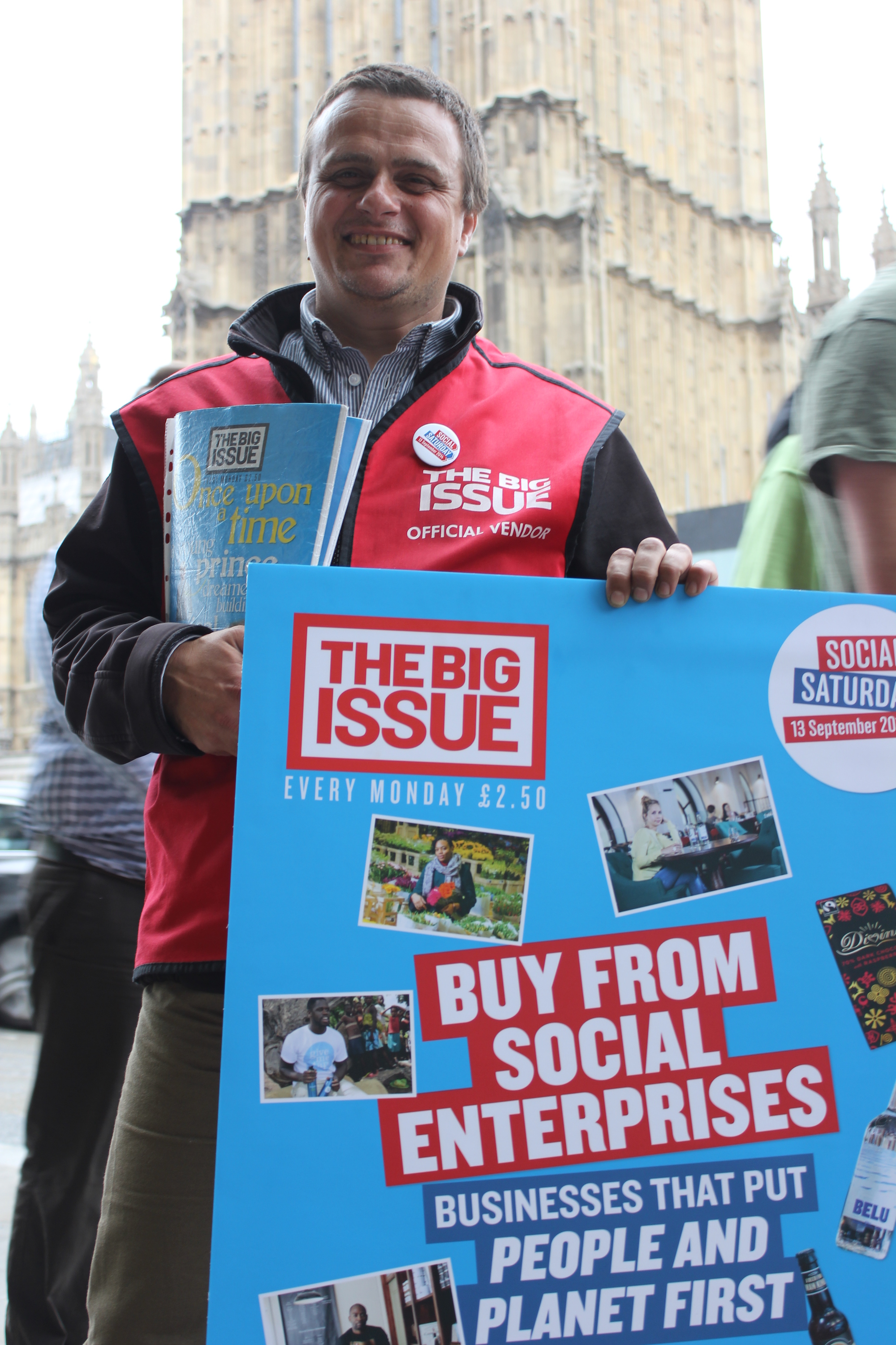 Big Issue vendor