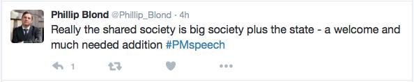 Phillip Blond tweet