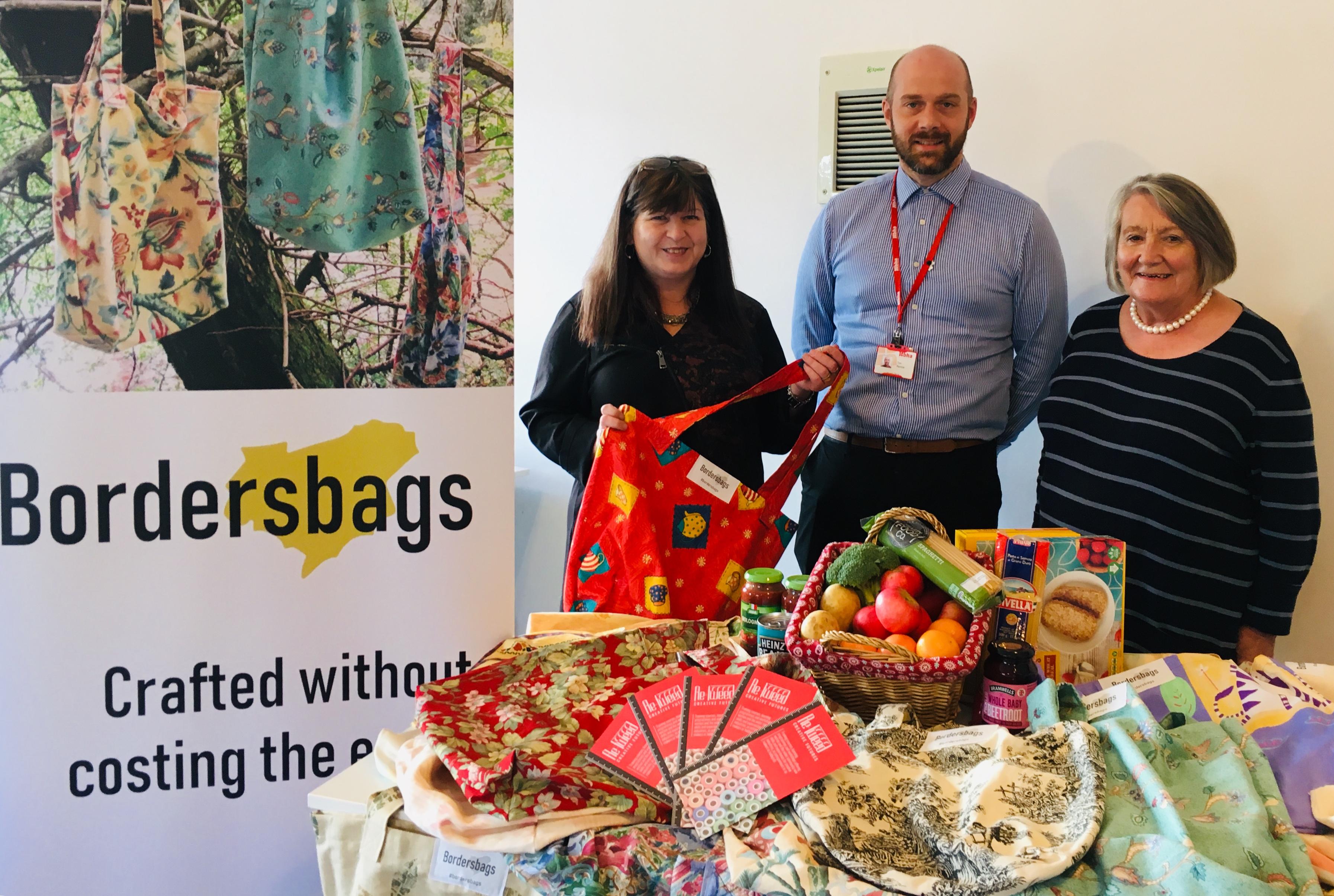 Retweed borderbags and foodbank