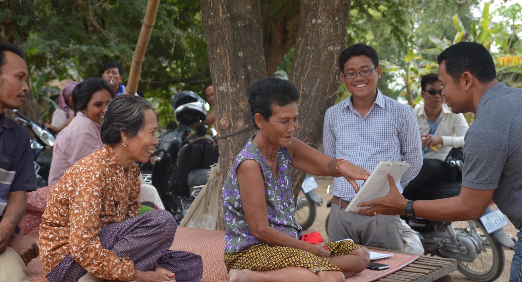 Whitten & Roy sales presentation in Cambodia