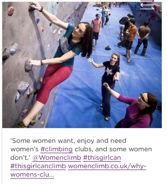 This Girl Can campaign climbing