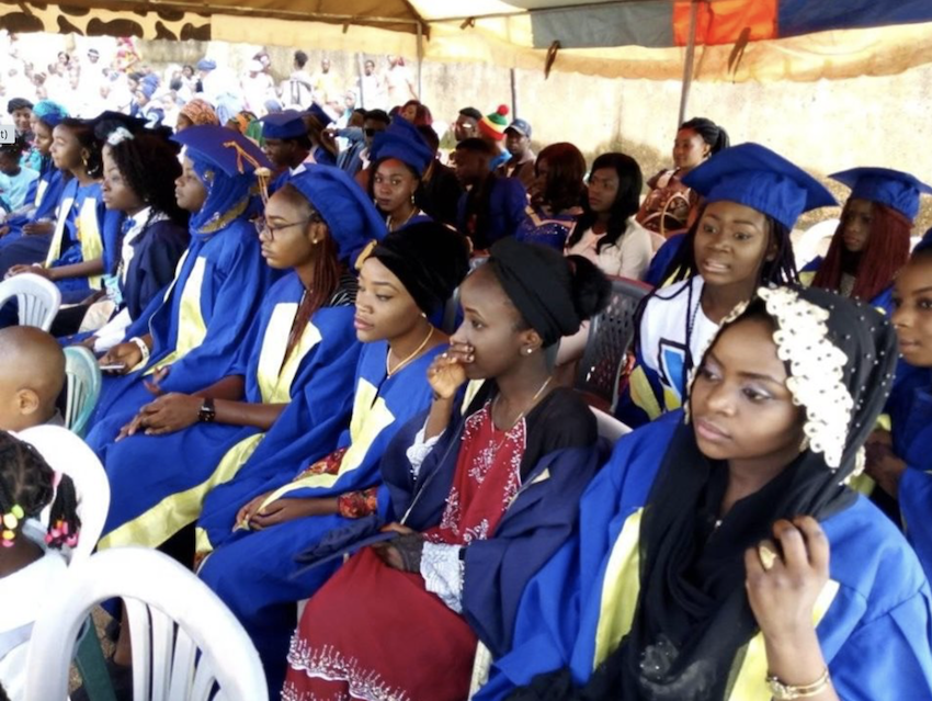 Students graduating at the Creative Minds Academy Nigeria