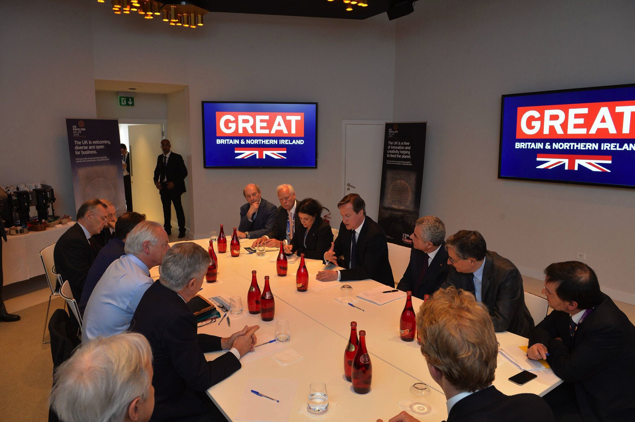 David Cameron roundtable EXPO Milano