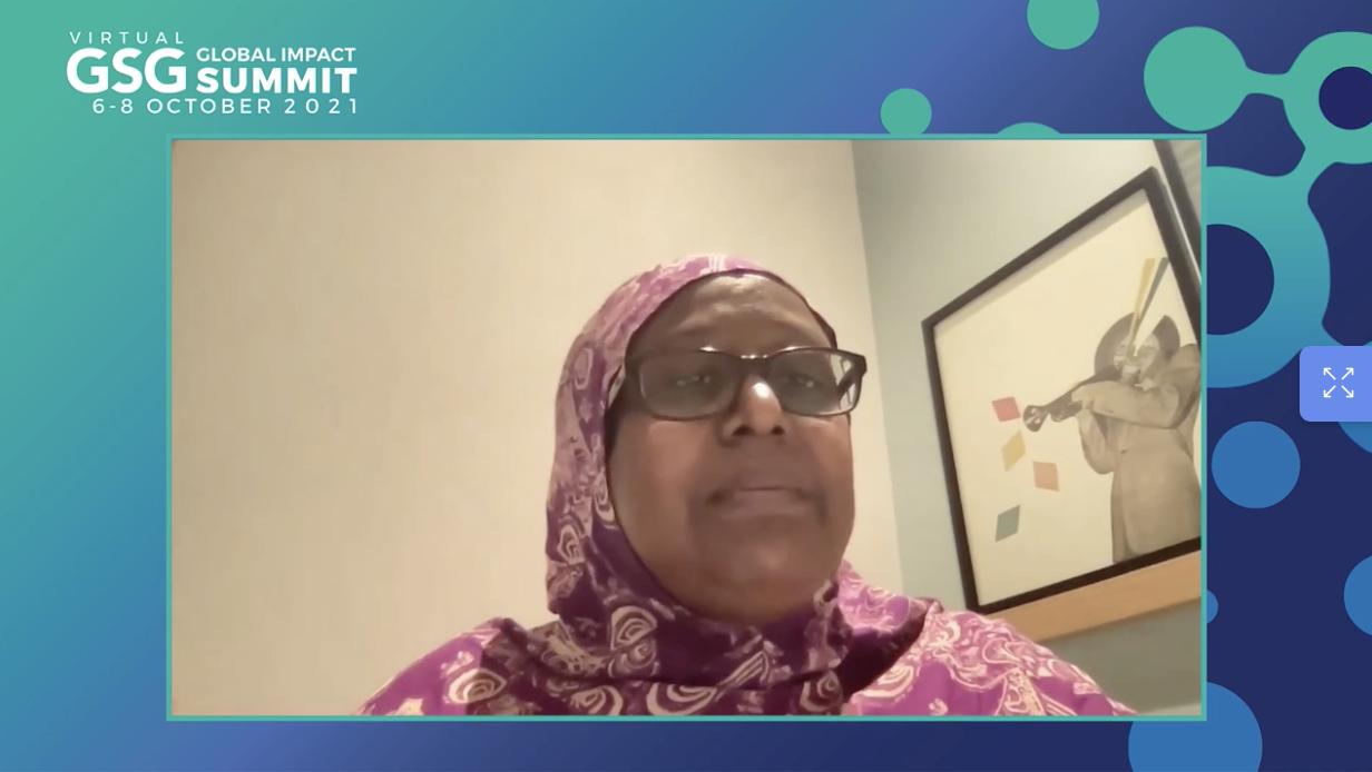 Degan Ali at the GSG Summit 2021