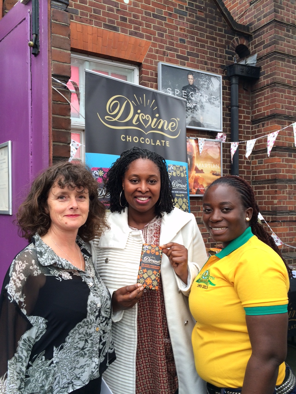 Sophi Tranchell with Dawn Butler MP and Esther