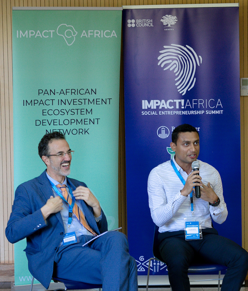 Emanuele Santi and Darren Lobo at Impact!Africa Summit 2019