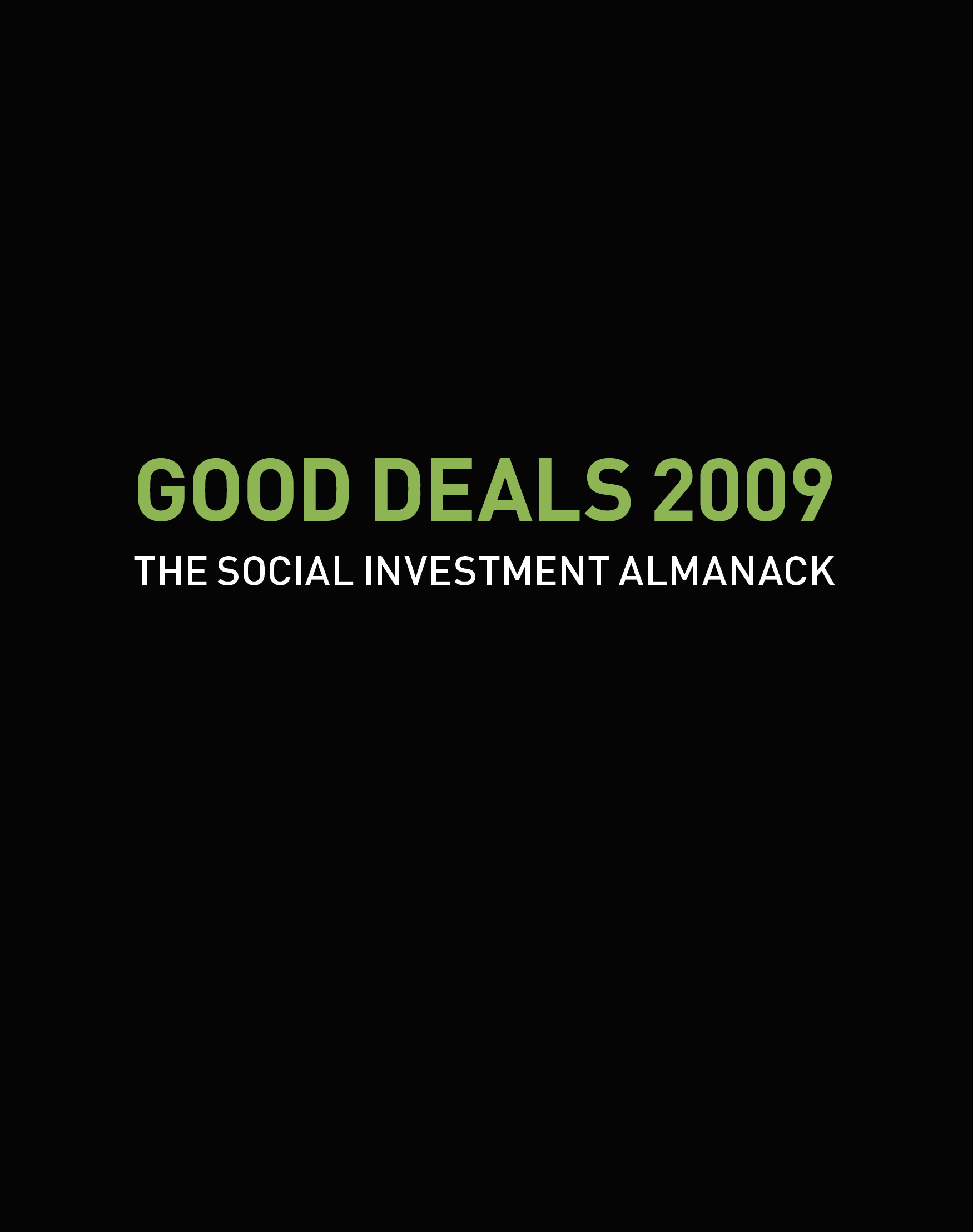 Social Investment Almanack cover