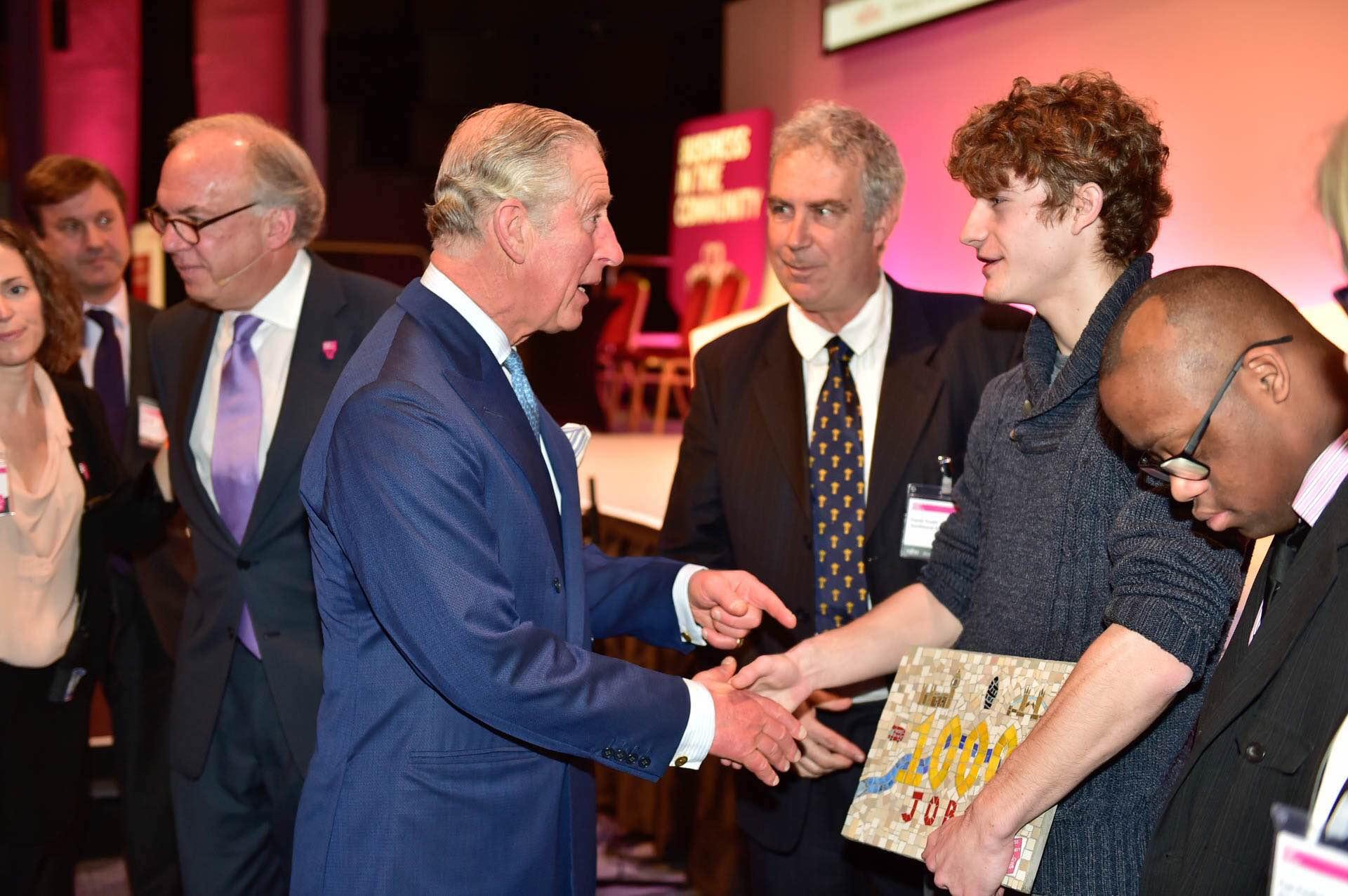 HRH the Prince of Wales with SouthBank Mosaics_Luke Bryant_Shomari Burford