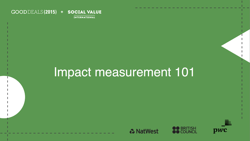 Impact measurement 101
