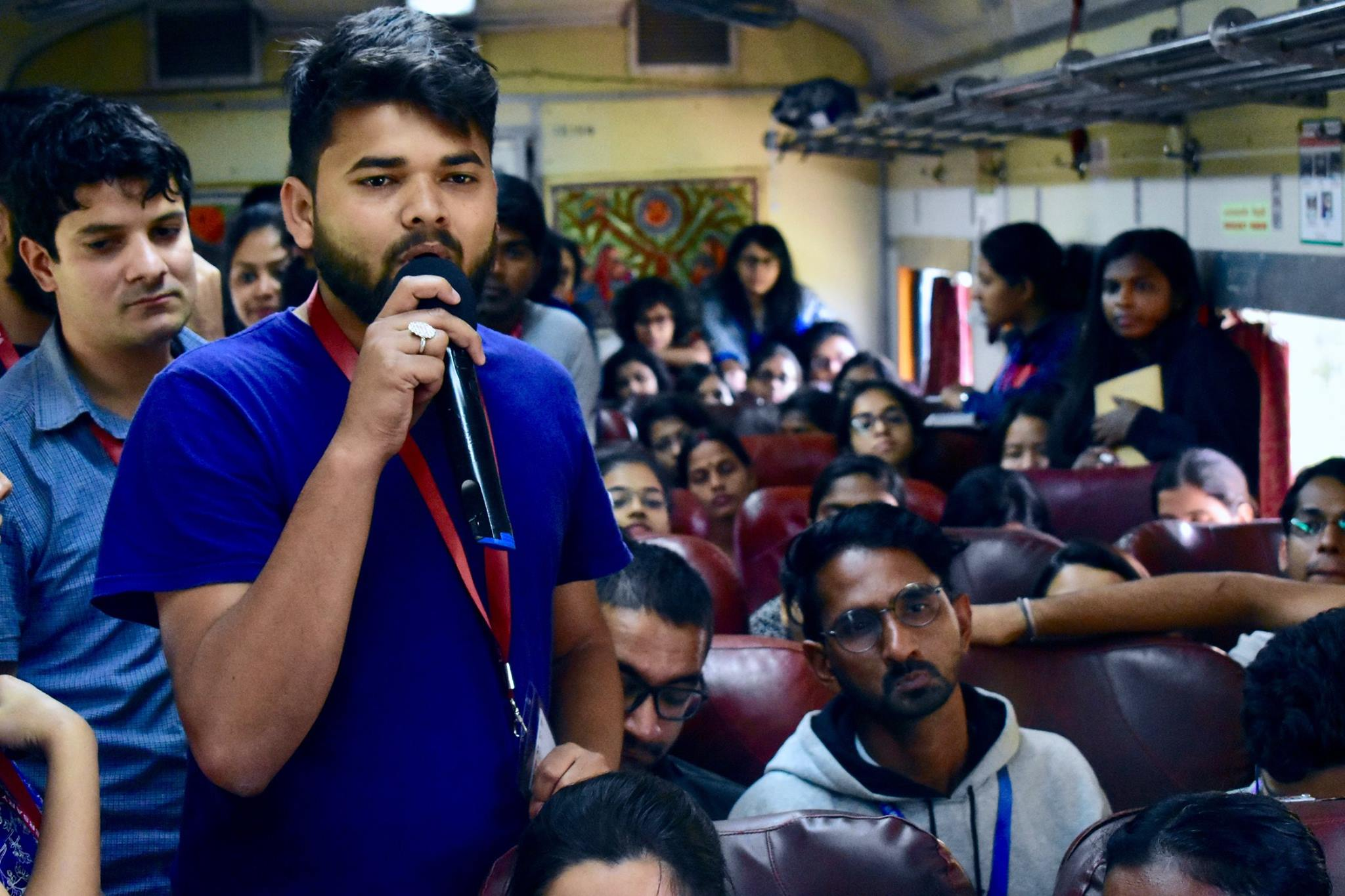 Jagriti Yatra train carriage