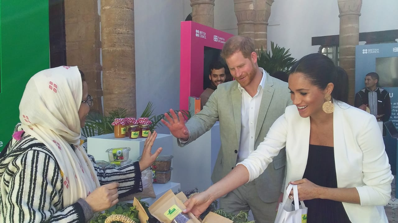Jnan Nemla with Duke and Duchess of Sussex in Morocco