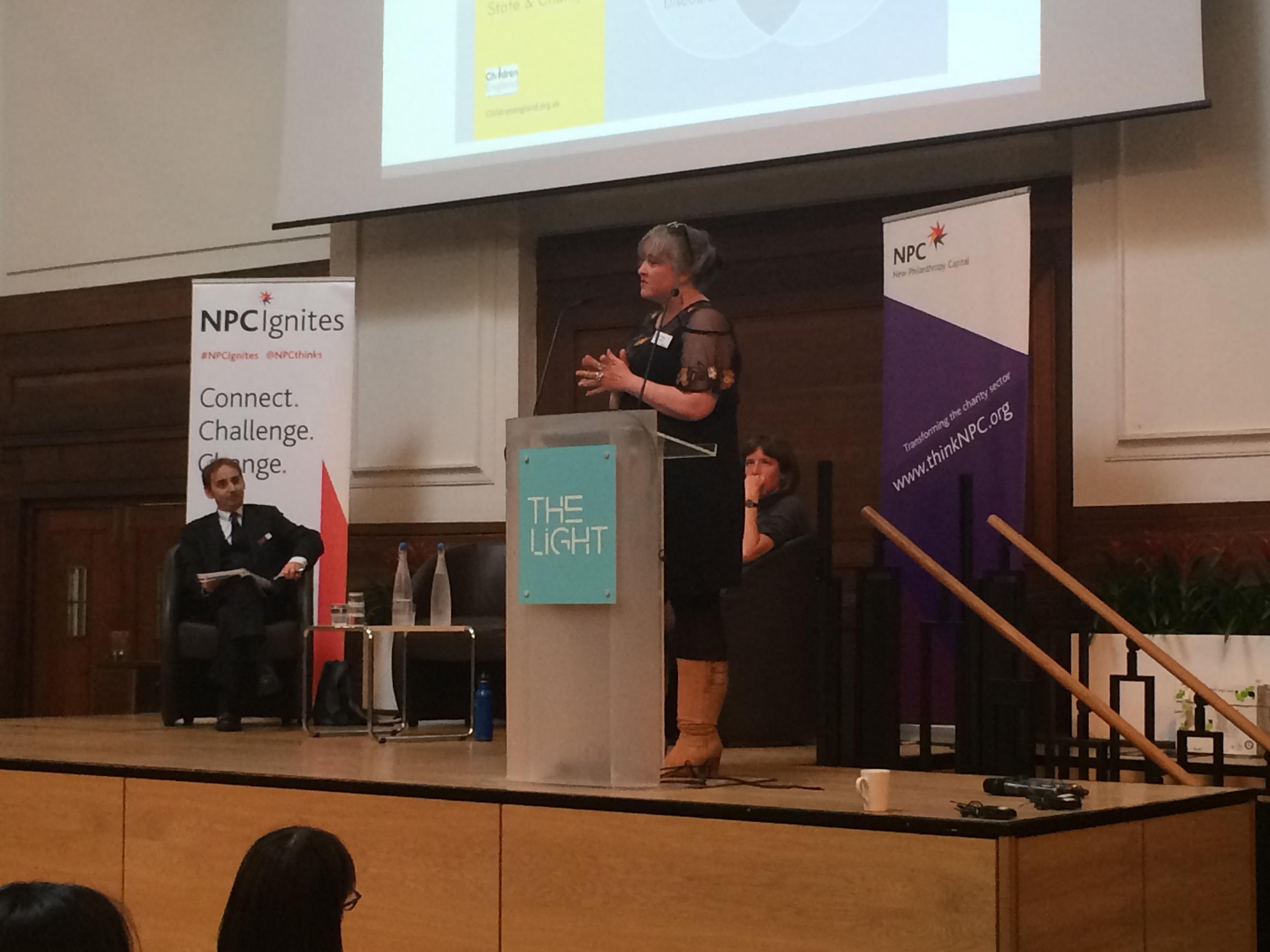 Kathy Evans addresses NPC Ignites audience