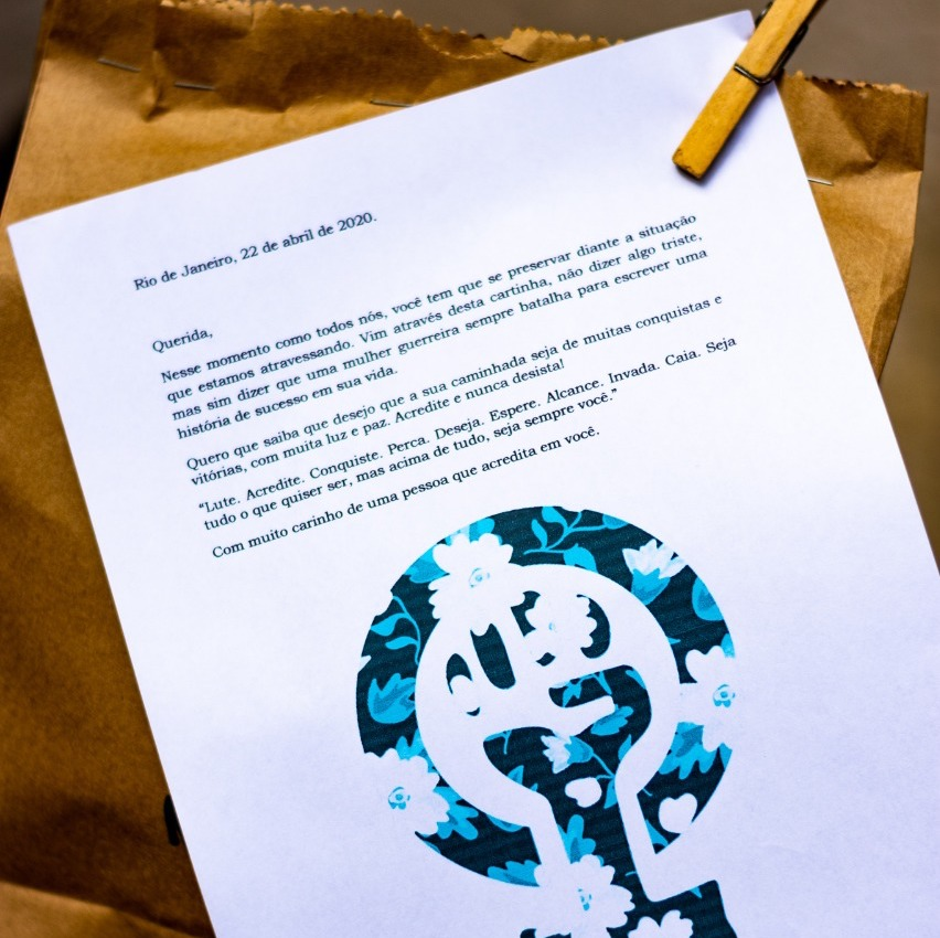 Letter of support with food parcel