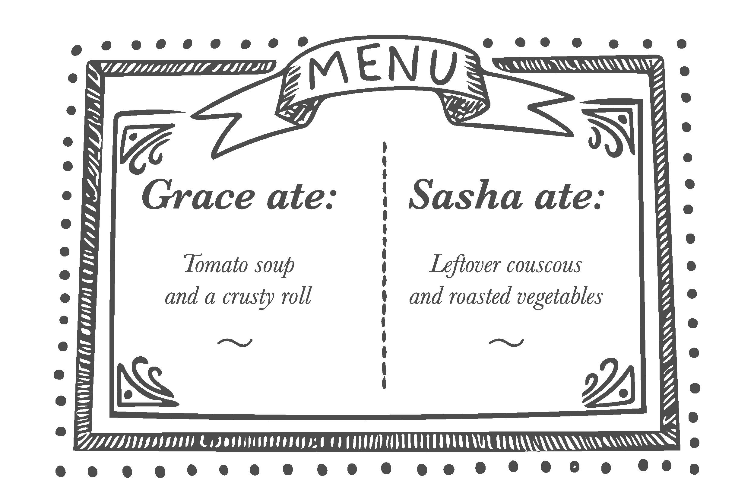 Ladies who lunch menu