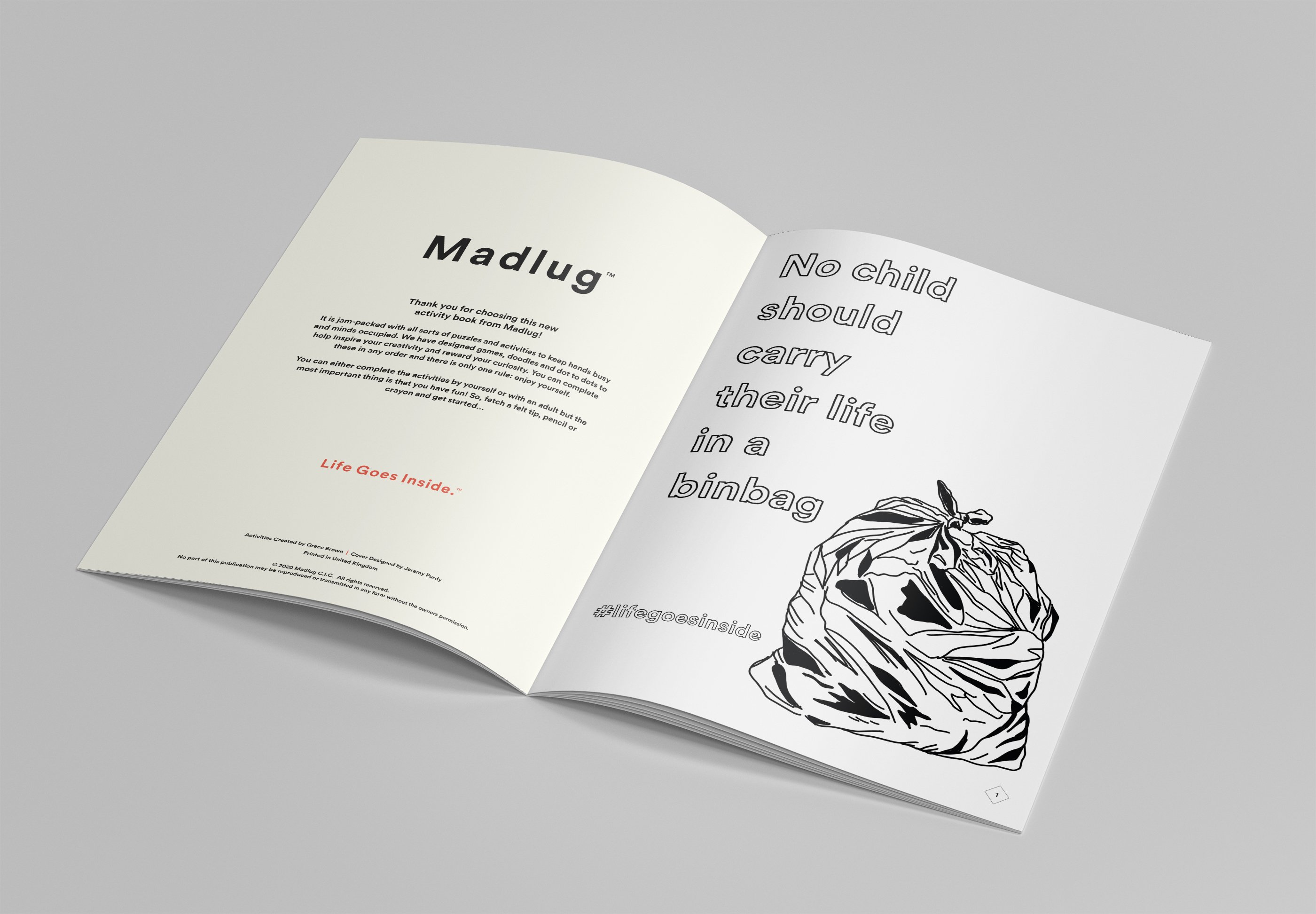 Madlug activity book - inside pages