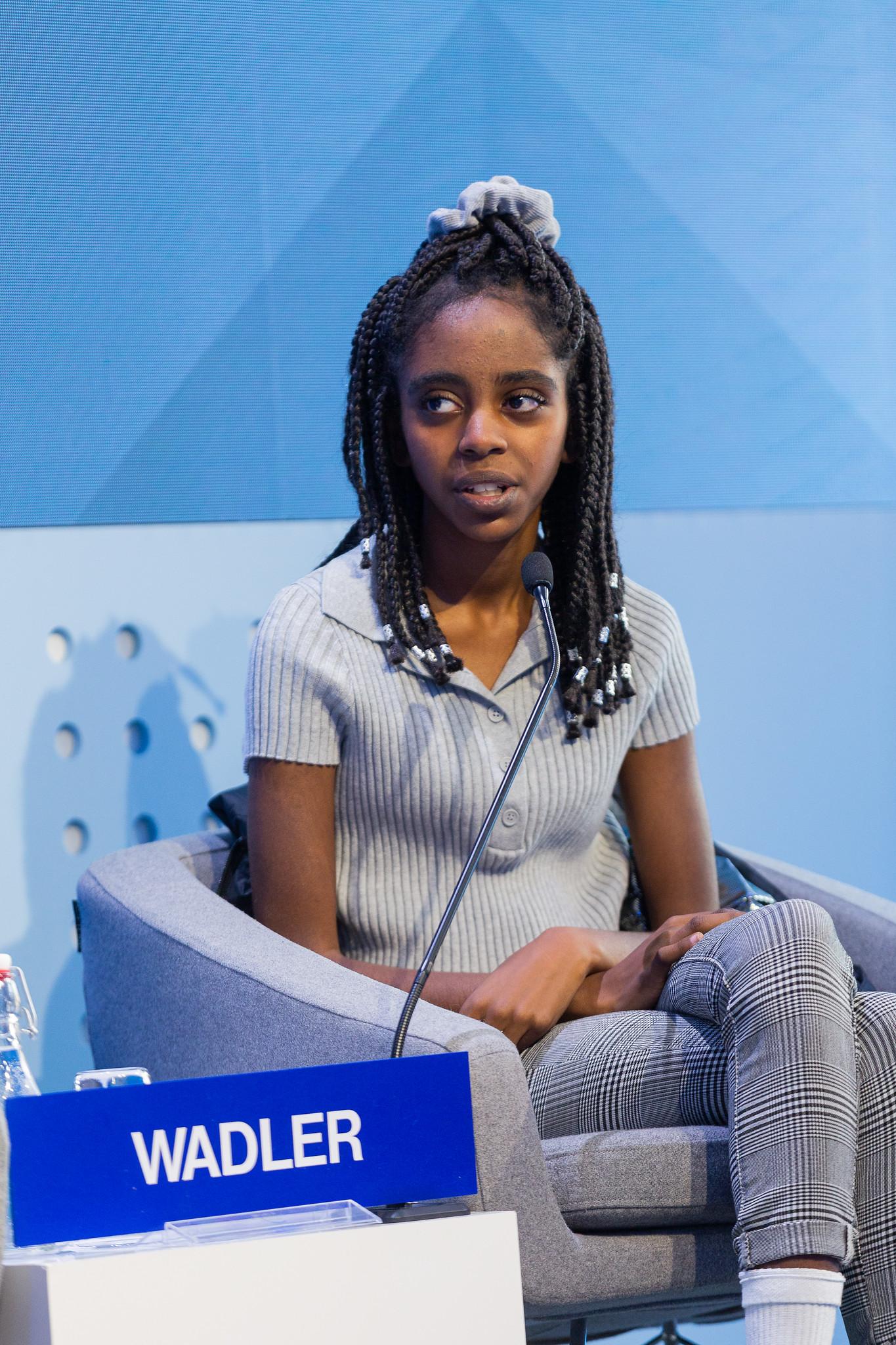 Naomi Wadler speaking at WEF Davos 2020
