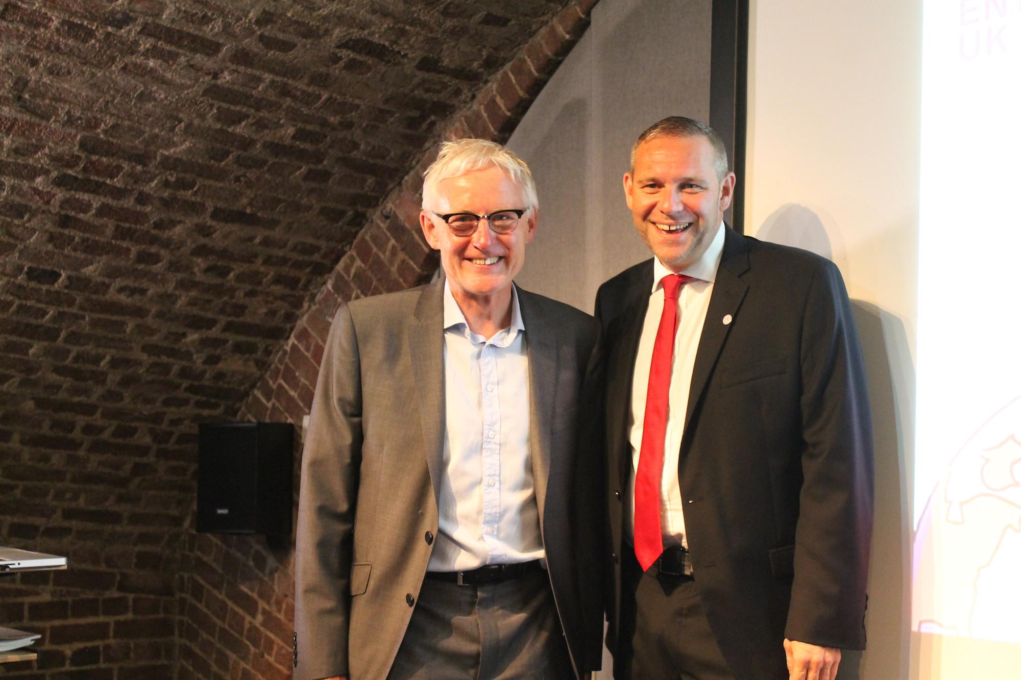 Norman Lamb MP and Peter Holbrook CBE