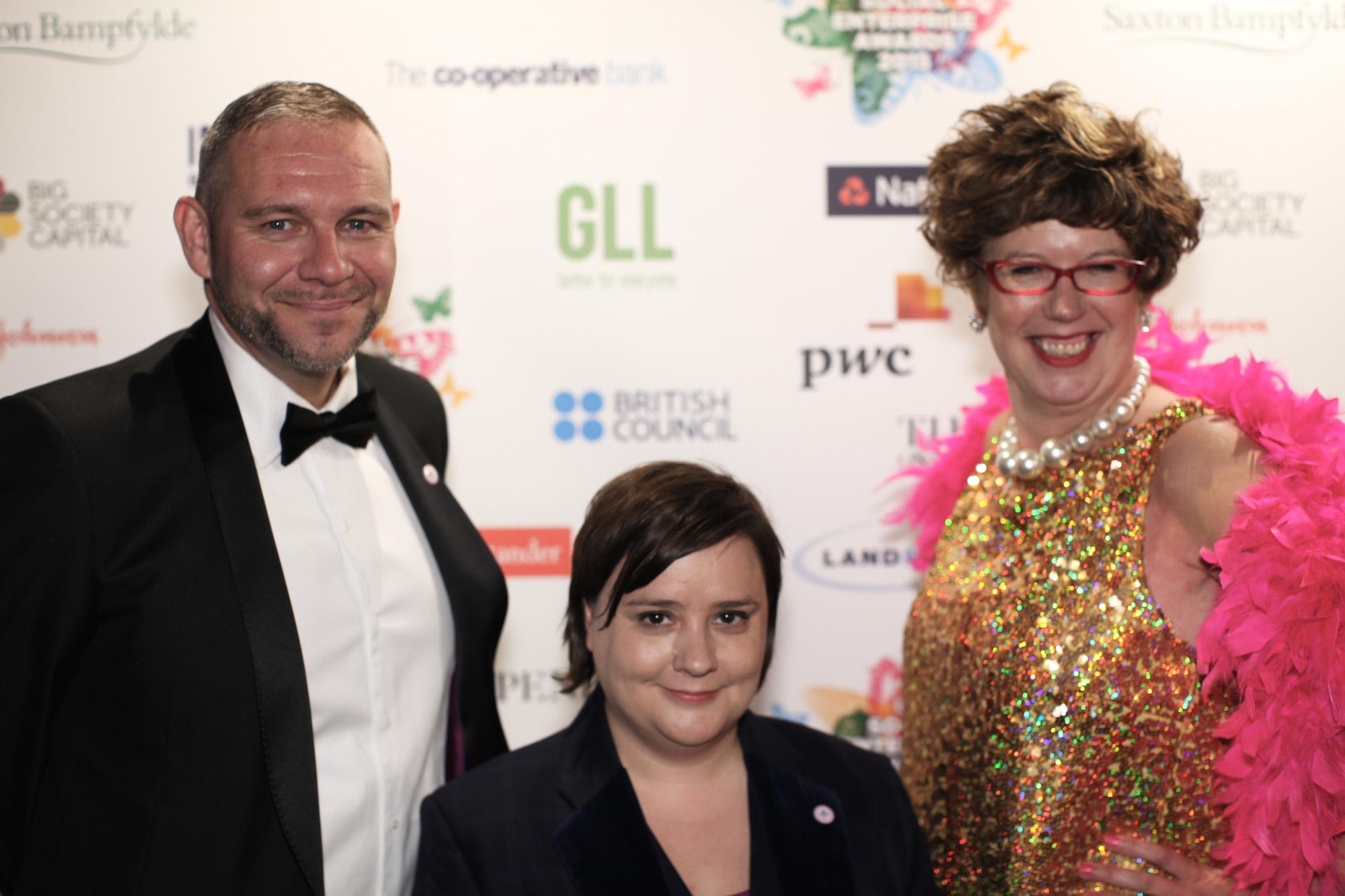 Peter Holbrook CBE, Susan Calder and Lorraine Bowen