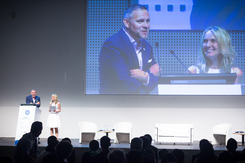 Peter Holbrook and Elena Casolari at the Social Enterprise World Forum
