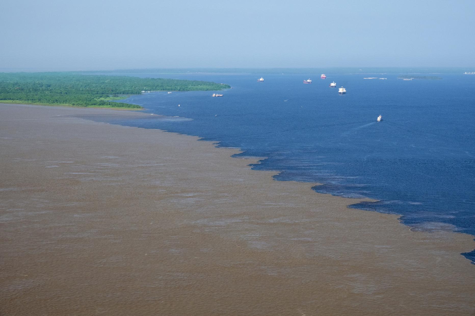 Rio Negro and Rio Solimoes in Brazil