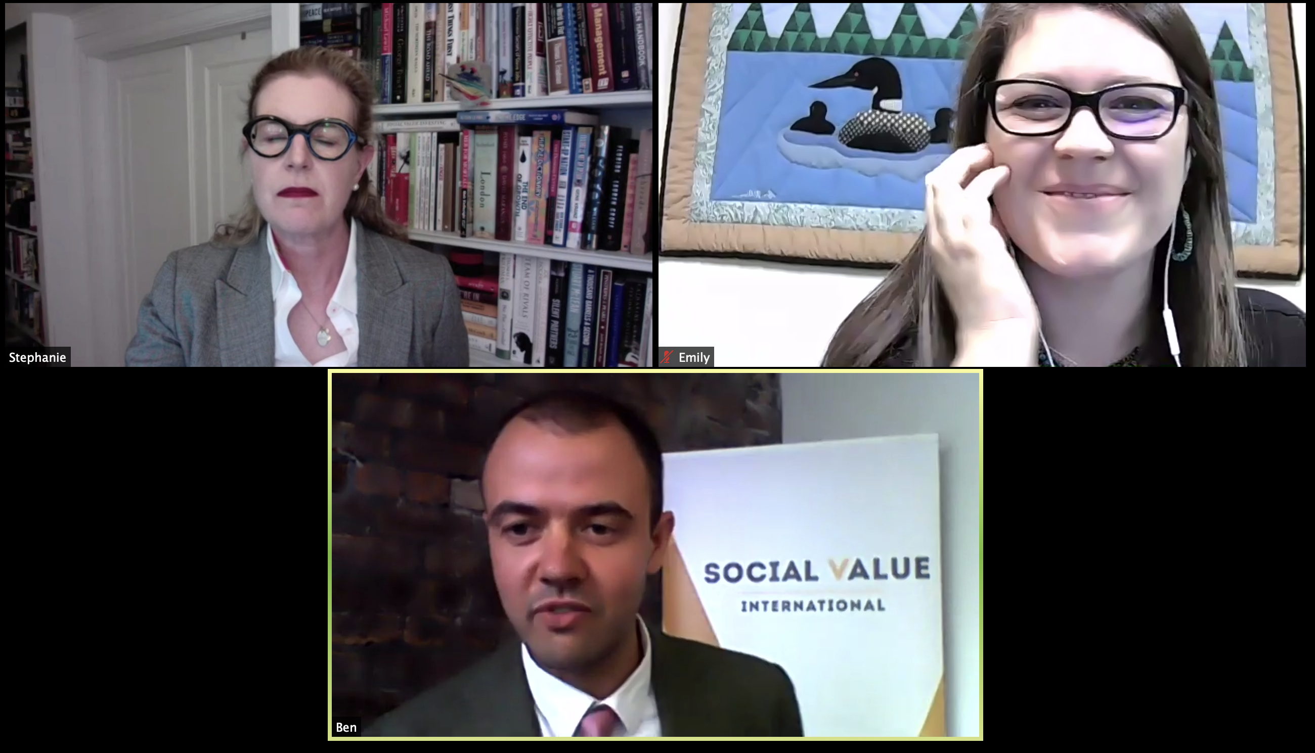 Social Value Matters screenshot opening session