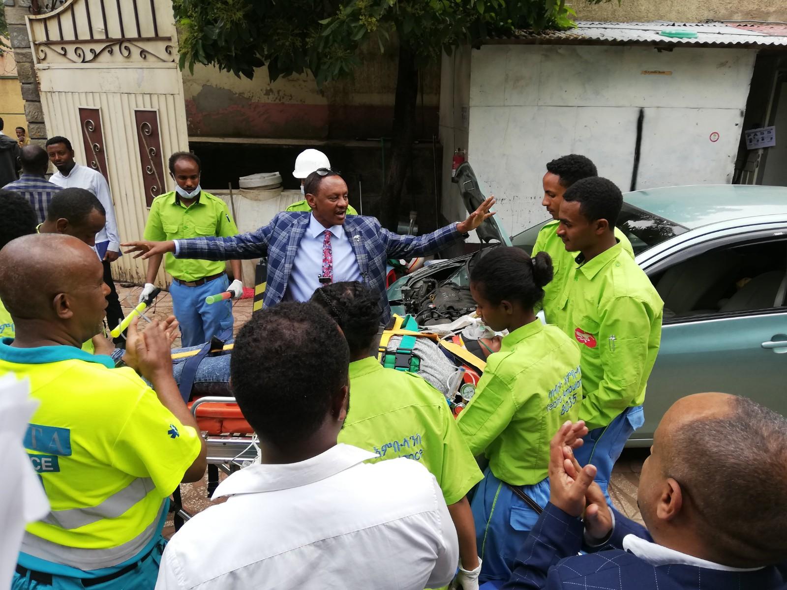 Tebita Ambulance Kibret and students