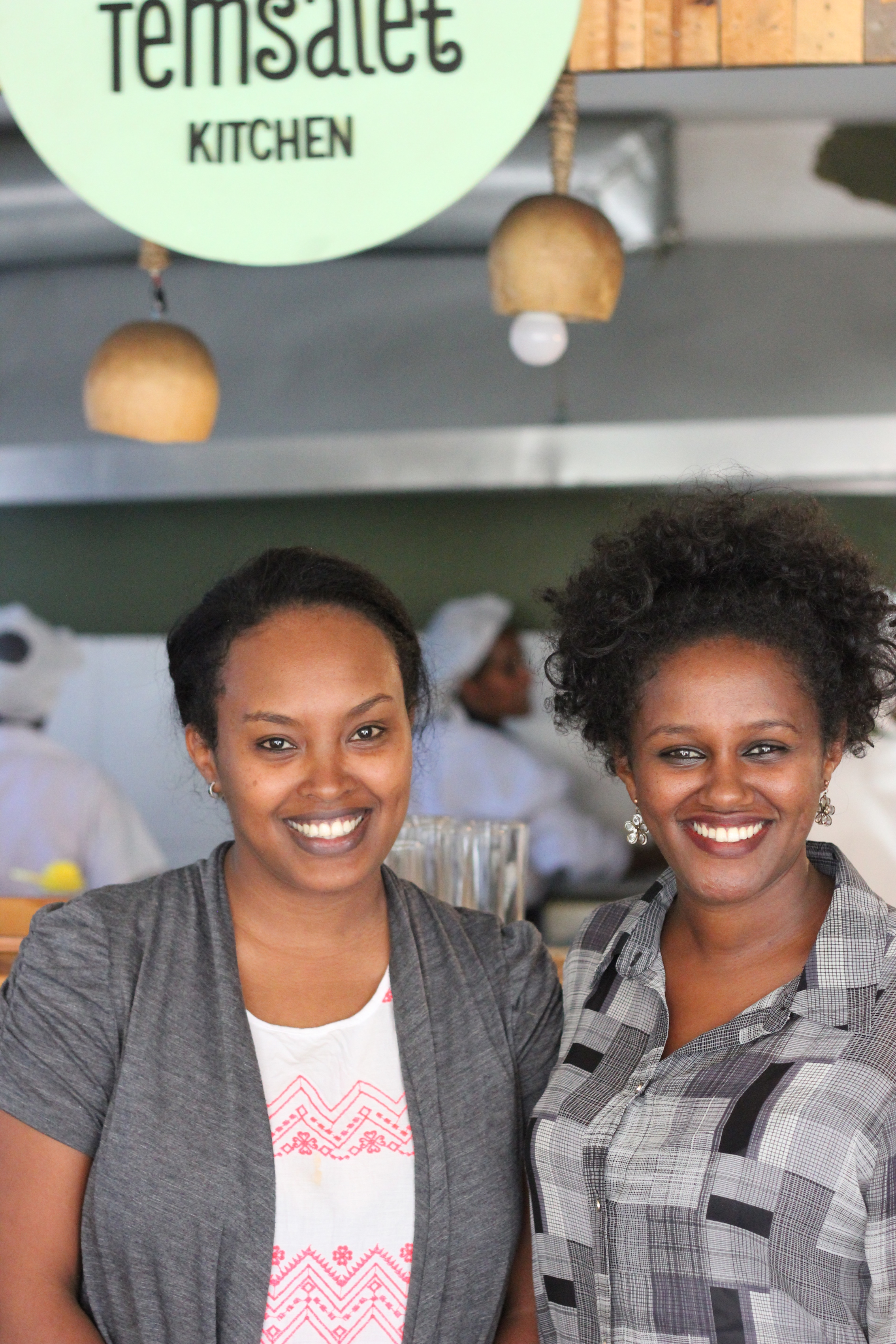 Feteh and Tigist of Temsalet Kitchen Ethiopian social enterprise