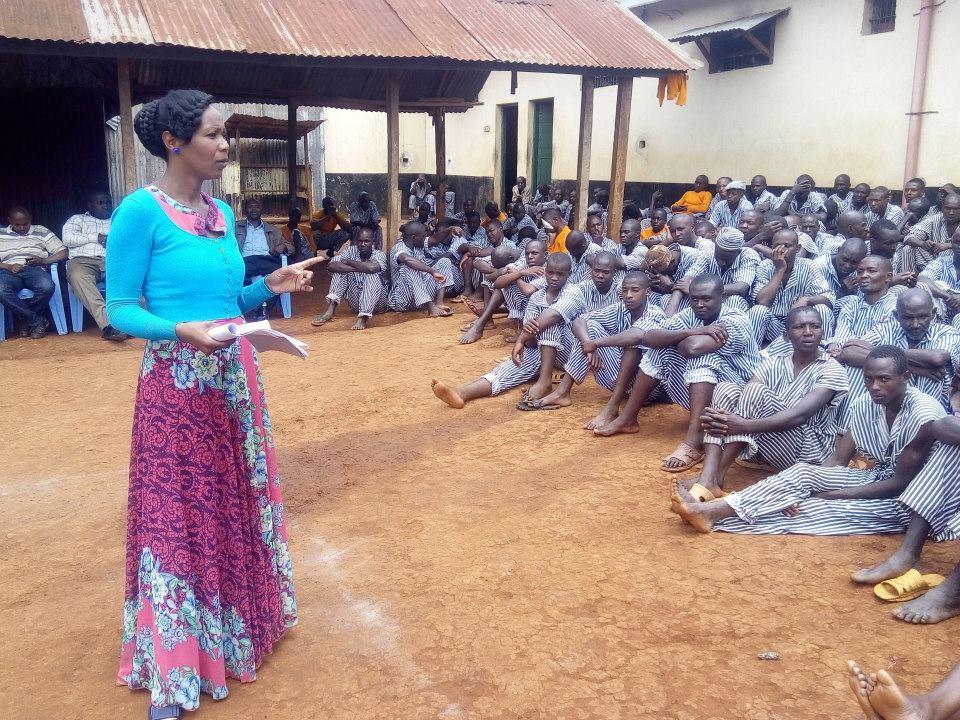 Teresa teaching Kiambu Prison Inmates