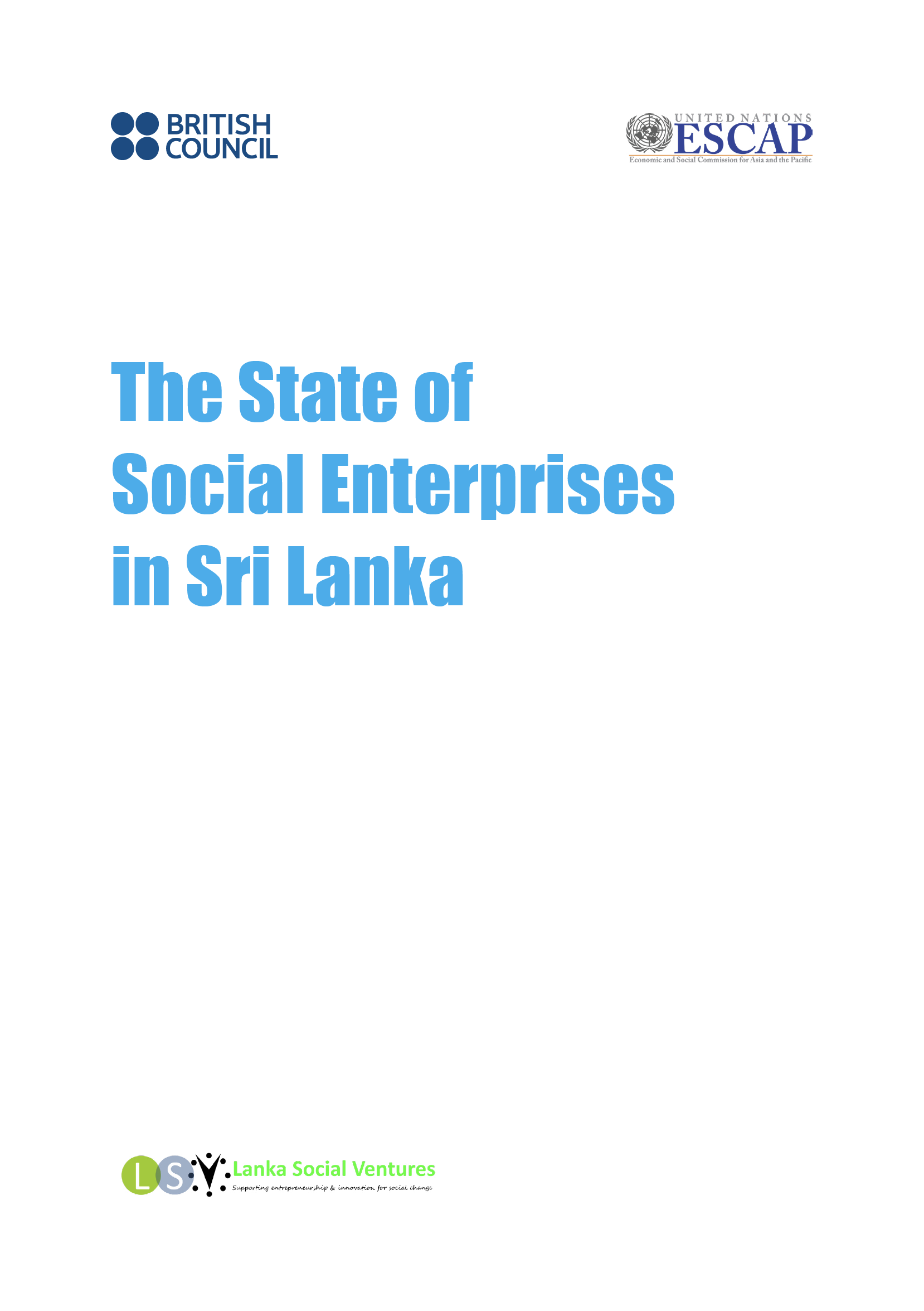 The State of Social Enterprises in Sri Lanka report cover