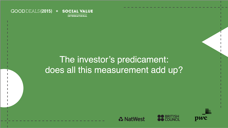 The investor's predicament: does all this measurement add up?