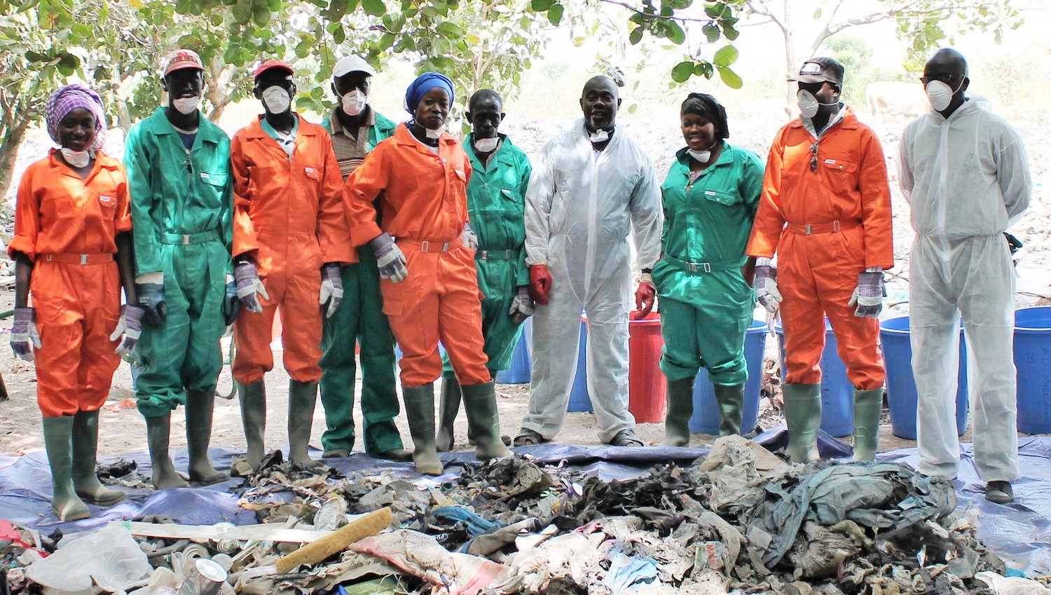WCA waste sorting team