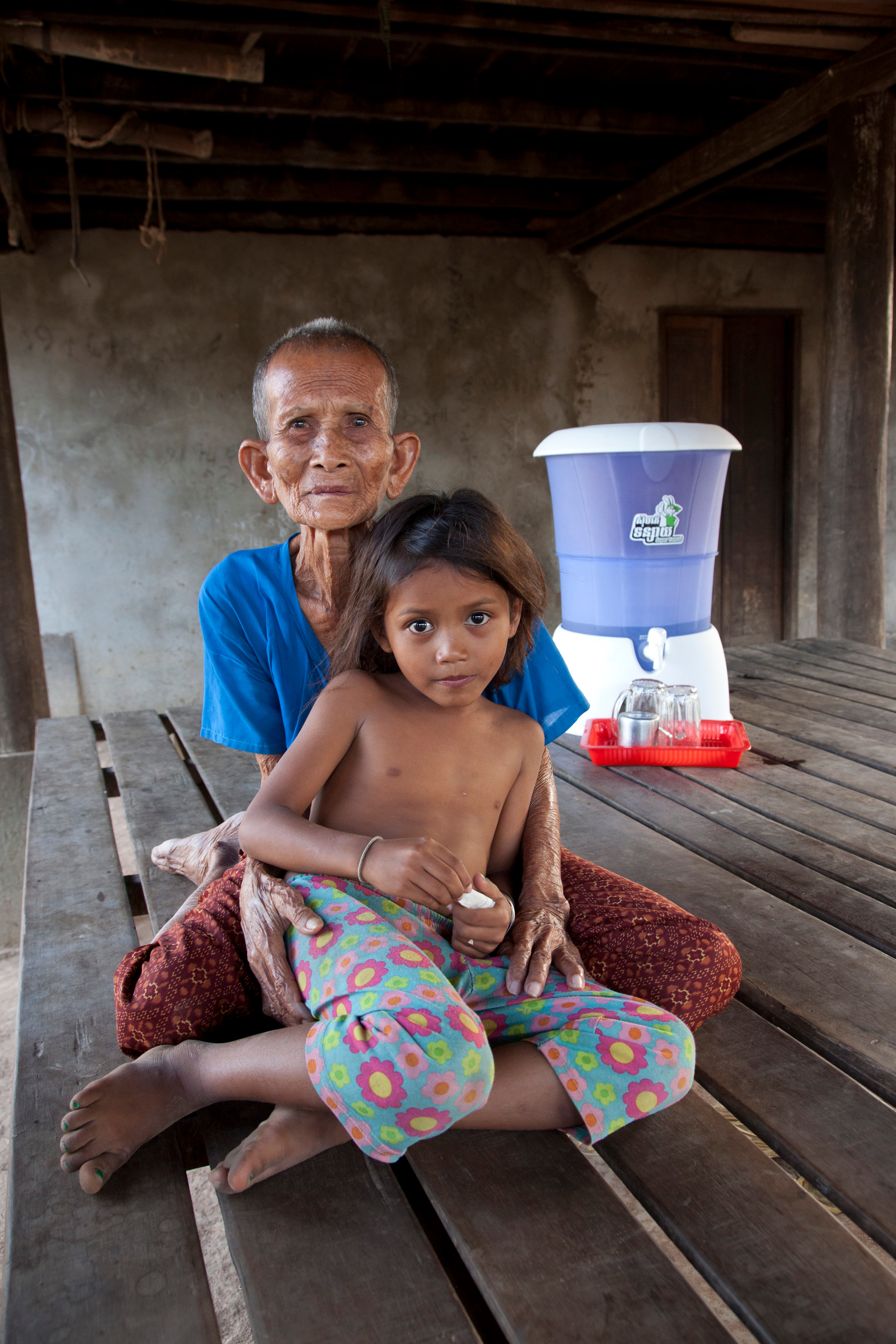 Rabbit Hydrologic water filter in Cambodia family home