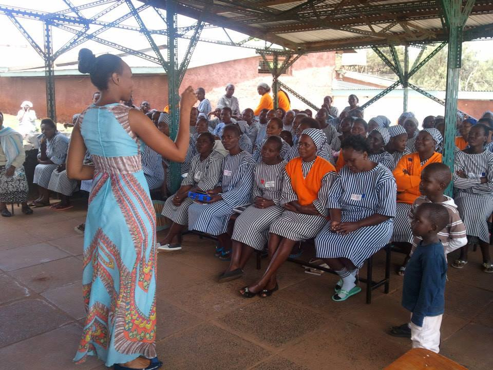 Teresa teaching inmates at Langata Women Prison