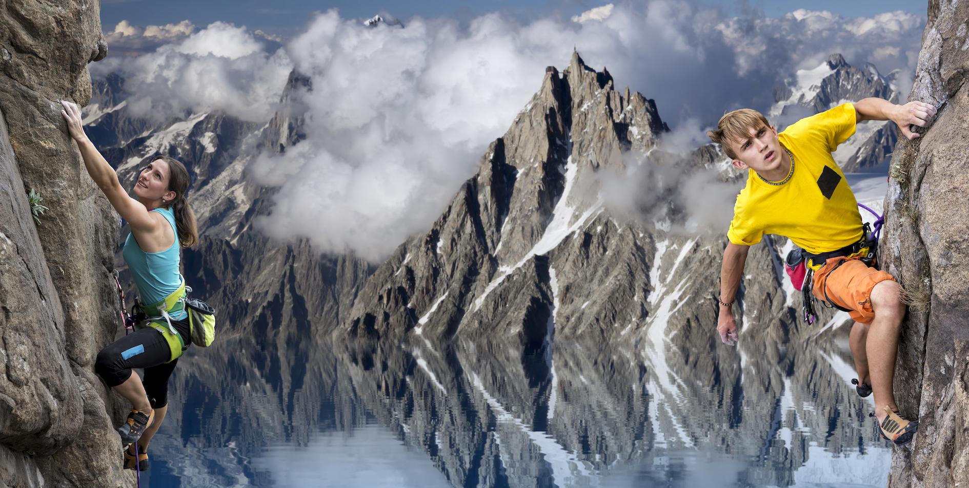 rock climbers pic