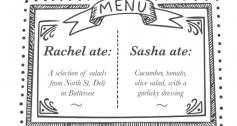 Lunch menu - Rachel Wang