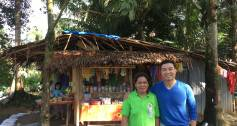 Vincent Rapisura with microentrepreneur