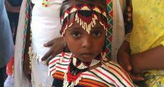 Ethiopia child looks to camera
