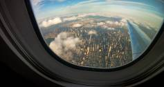 View of New York from a plane