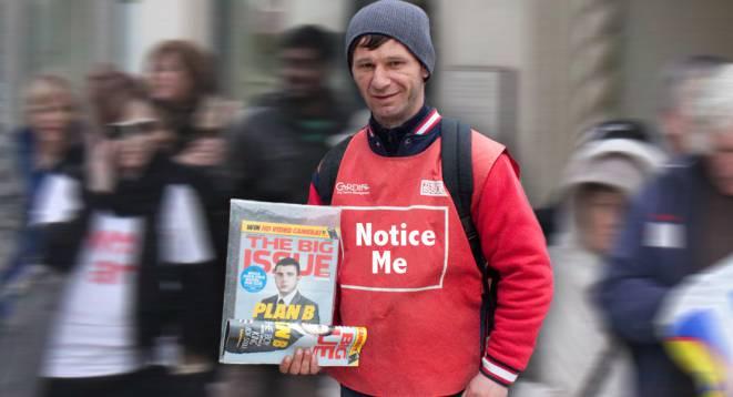 Camden Big Issue seller
