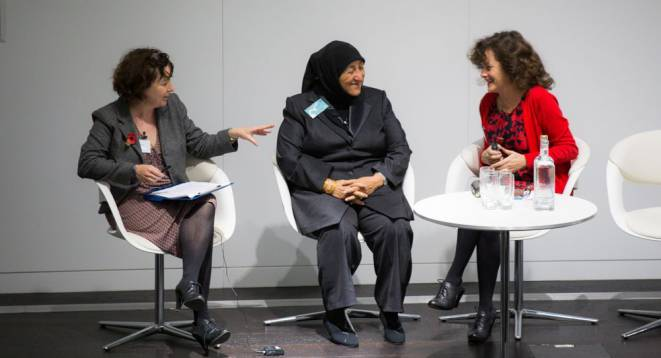 Jane Garvey, Sakena Yacoobi and Sophi Tranchell