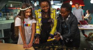 During a Hackathon by Reach for Change in Sweden with the social entrepreneurs Carolyne Ekyarisiima  and Noella Tindhwa