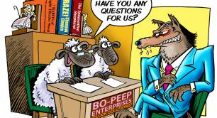 Sheep and Wolf cartoon
