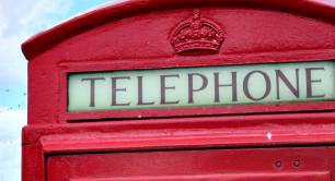 old-fashioned telephone box