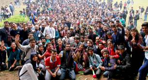 Jagriti Yatra group of young people