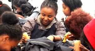Leather workers at Sabegn in Addis Ababa Ethiopia ahead of the Social Enterprise World Forum 2019