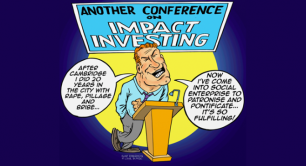 cartoon of city social investor