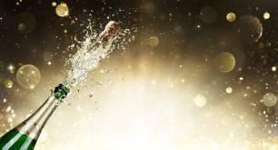 champagne bottle popping open