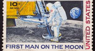 man on moon stamp pic